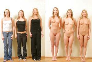 drei freundinnen nackt und angezogen