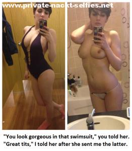 badeanzug und nackt selfie