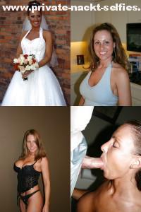 hochzeitsfoto mit blowjob in einer collage